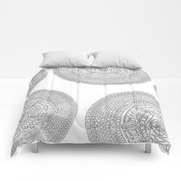 Envisioning on White Background Comforters