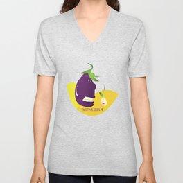 The stolen identity of eggplants Unisex V-Neck