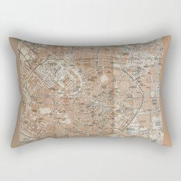 Milan, Italy / Milano, Italia antique map Rectangular Pillow