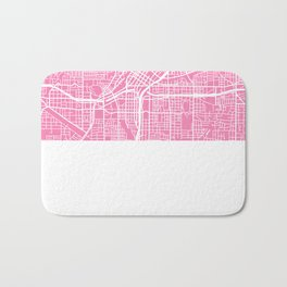 Atlanta map pink Bath Mat