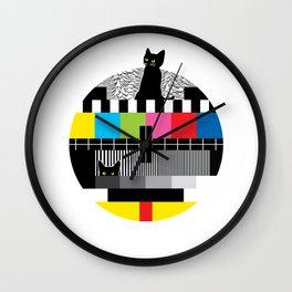 The Meow & No TV Signal Wall Clock