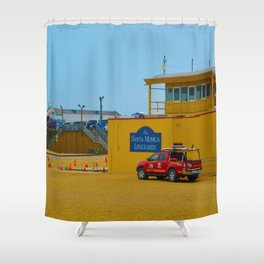 Santa Monica Lifeguards Shower Curtain