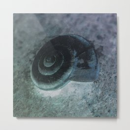 Shell - Sketch inverted colors Metal Print