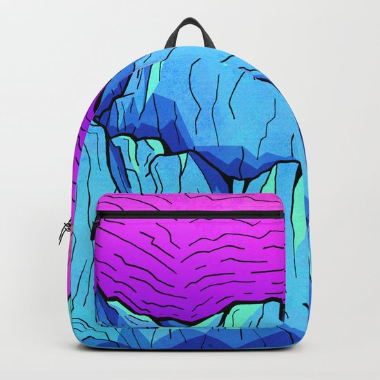 Blue tone mountains Backpack