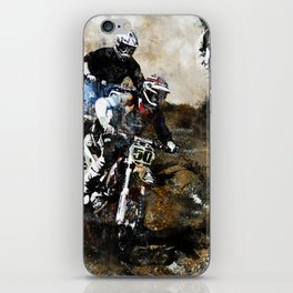 """Dare to Race"" Motocross Dirt-Bike Racers iPhone Skin"