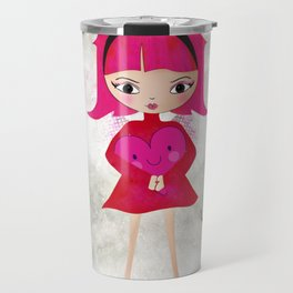 Pink angel - L'ange rose Travel Mug