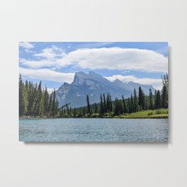 Mount Rundle from Bow River Metal Print