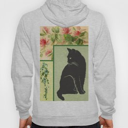 Patchwork Flowers and Cat Hoody