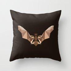 Brown PolyBat  Throw Pillow
