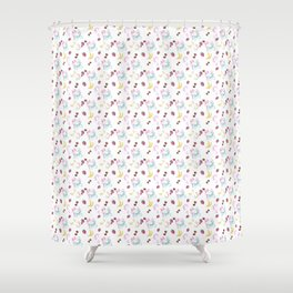 Milkshake  pattern Shower Curtain