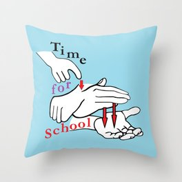 ASL Time for School Throw Pillow