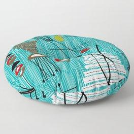 Mid-Century Tiki Tok Floor Pillow