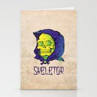 skeletor Stationery Cards featuring Old School Skeletor by Miguel Manrique