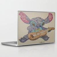 ohana Laptop & iPad Skins featuring Stitch by Julia
