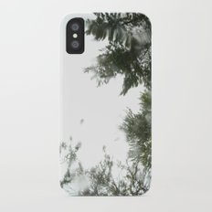 rainy trees ~ nature iPhone X Slim Case