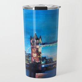 London Tower Bridge and The Shard at Dusk Travel Mug