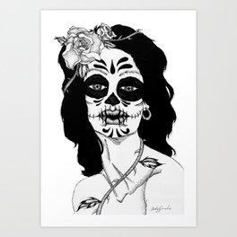 Dama De La Muerte Art Print