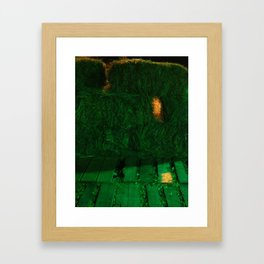 A Hole In The Hay Framed Art Print