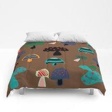 Cute Mushroom Brown Comforters