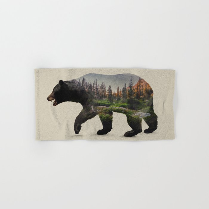 The North American Black Bear Hand Bath Towel