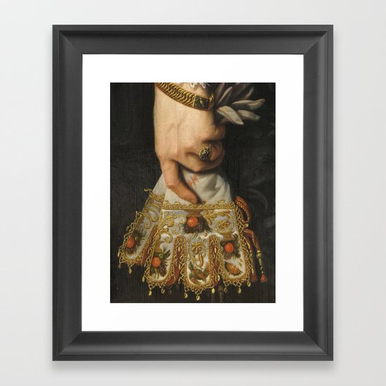 Louvre Glove Framed Art Print