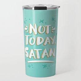 Not Today, Satan – Mint & Gold Palette Travel Mug