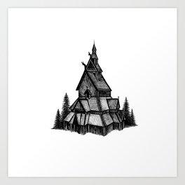 Borgund Stave Church Art Print