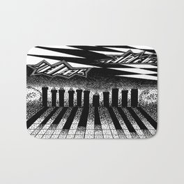 descending of night at the factory Bath Mat