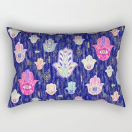 Hamsa Mystical Protection Rectangular Pillow