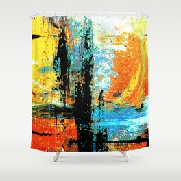 Easel Abstract 12 Shower Curtain