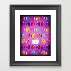 Unicorn Birthday Party Framed Art Print