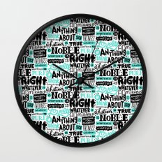 true noble right lovely admirable Wall Clock