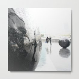 Rain - London, Thames, City Centre Metal Print