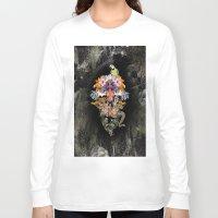 animal skull Long Sleeve T-shirts featuring ANIMAL SKULL by sametsevincer