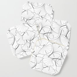 ginkgo leaves (white) Coaster