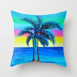 Its Cali Palms Throw Pillow