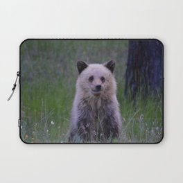 The most adorable grizzly bear cub in Jasper National Park   Canada Laptop Sleeve