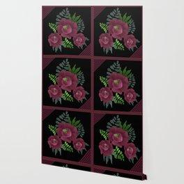 Burgundy roses. Wallpaper