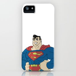 Superman with pose iPhone Case