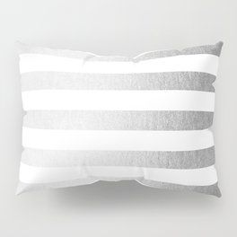 Simply Striped Moonlight Silver Pillow Sham