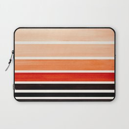 Burnt Sienna Minimalist Mid Century Modern Color Fields Ombre Watercolor Staggered Squares Laptop Sleeve