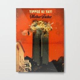 Die Hard travel movie art Metal Print