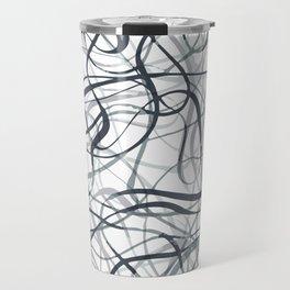 curvy gray & black Travel Mug