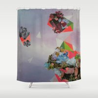 mineral Shower Curtains featuring Mineral Fracture by Sara Cannon Art