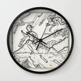 Escaping From The Warlocks Sabbat Wall Clock