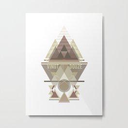 Triangular Abyssal, brown edition Metal Print