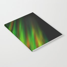 Colorful neon green brush strokes on dark gray Notebook
