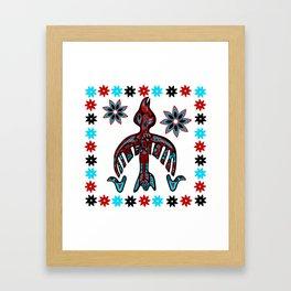 The Raven -Tlingit inspired Framed Art Print
