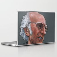larry david Laptop & iPad Skins featuring Larry David by Micah Krock