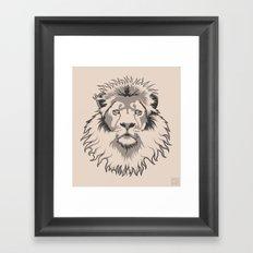 Lion Head Framed Art Print